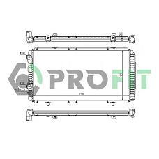 PROFIT PR0540N1 (1301N0 / 1311003080 / 1301P6) радиатор охлаждения двигателя Citroen (Ситроен) jumper, Fiat (Фиат) ducato, Peugeot (Пежо) Boxer (Боксер) 94- (мкпп) (-a / c)