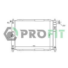 PROFIT PR1106A2 (96181931 / P96182261 / P96351263) радиатор охлаждения двигателя Daewoo (Дэу) Lanos (Ланос) 1.3,1.5 мкпп -ac
