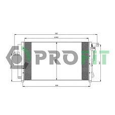 PROFIT PR1301C1 (976061E000) радиатор кондиционера Hyundai (Хендай) Accent (Акцент) (1.4l, 1.6l) 05-