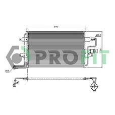 PROFIT PR9545C1 (1J0820413D) радиатор кондиционера Skoda (Шкода) Octavia (Октавия) 97-, VW bora, Golf (Гольф) IV 98-