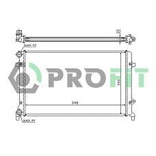 PROFIT PR9560C1 (1K0121251P) радиатор охлаждения двигателя VW Golf (Гольф) V 03-, Passat (Пассат) 05-, Skoda (Шкода) Octavia (Октавия) 03- (+ / -a / c)