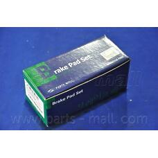 PARTS-MALL PKA-038 (581013JA50 / 581013JA00 / 581013JA01) колодки тормозные дисковые