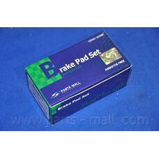 PARTS-MALL PKB034 (583021DE00 / 583021DA00 / 583021DA01) pkb034pmc колодки дисковые задние Kia (Киа) Carens (Каренс) 02>