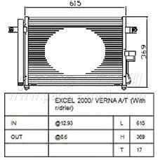PARTS-MALL PXNCA-075 (9760625500) радиатор кондиционера