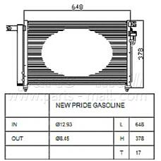 PARTS-MALL PXNCB-050 (976061G000) радиатор кондиционера