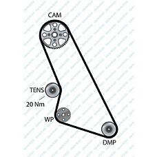 DAYCO 94532 (081667 / 081629 / 91517722) ремень грм 113x170h\ Citroen (Ситроен) bx / zx , Peugeot (Пежо) 205 / 305 / 309 / 405 1.6 / 1.9 8 82-92