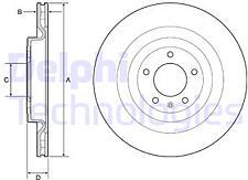 DELPHI BG9126C  диск торм. задн.вент.[345x22] 5 отв. (с покрытием)