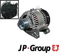 JP GROUP 1590101700 (98AB10300DC / 98AB10300DD / 98AB10300DJ) генератор Ford (Форд) Focus (Фокус) 1 1.8 / 2.0 80a